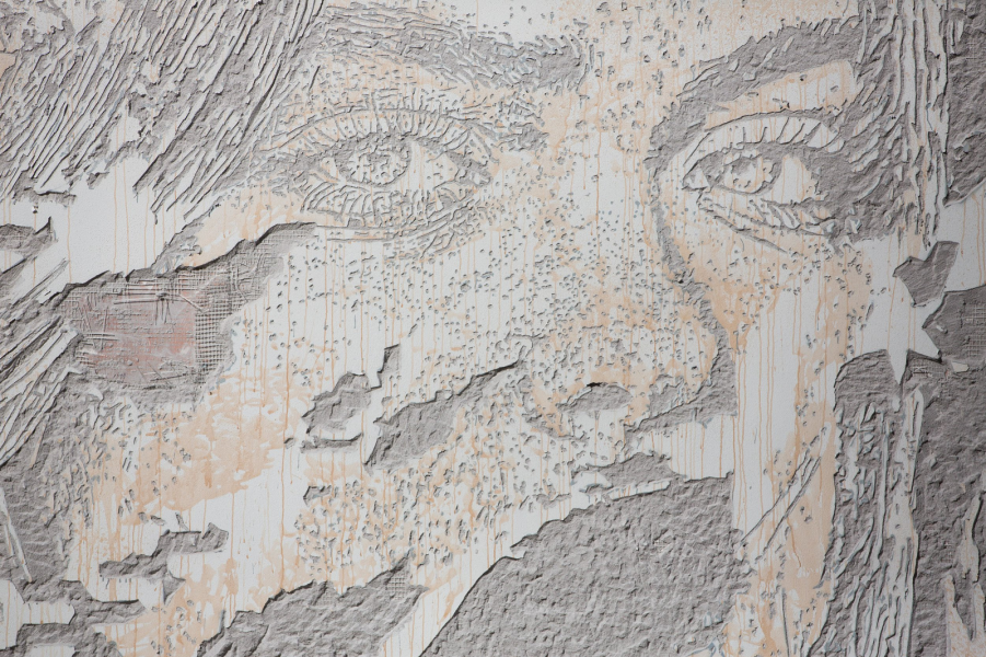 Lauréat : Scratching the surface, VHILS, © Jean-baptiste Gurliat / Ville de Paris